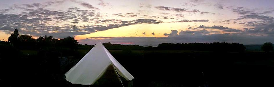 Sunset at the glampsite